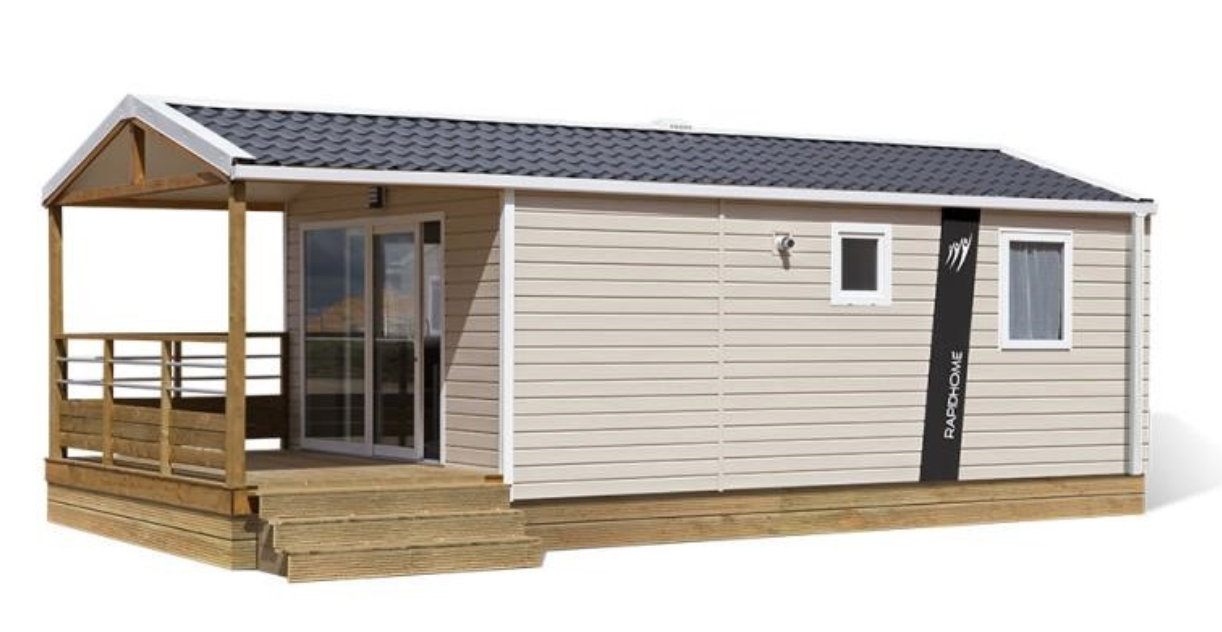 Mobil-home Confort – 1 à 4 pers. – 2 chambres – TV – 26m²